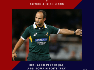 Jaco Peyper referees first Lions v All Blacks test