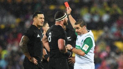 Sonny Bill Williams red card Jerome Garces
